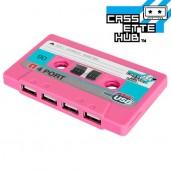Cassette Hub USB Rosa