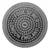 London Manhole Cover Doormat