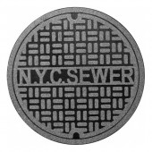 New York Manhole Cover Doormat