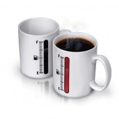 Tank Up Coffee Mug with Fuel Gauge