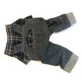 Dog Gardener Set Jeans and Shirt Blue
