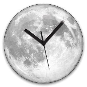 Reloj de pared Luna Fluorescente