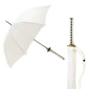 Paraguas Katana Blanca de Samurái
