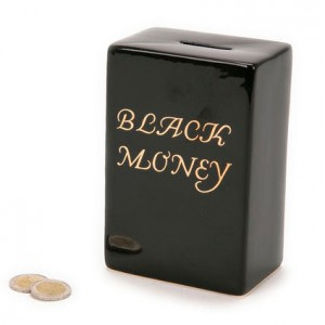 Black Money Box Bank