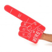 "Sponge hand Fan ""We're One"""