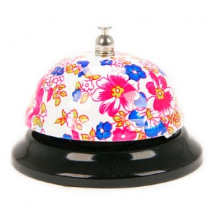 Metal Desktop Bell - Flowers