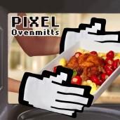 Pixel Oven Mitts
