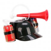 Beverage Helmet with Trumpet