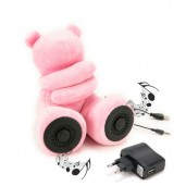 Teddy Bear Speakers Pink