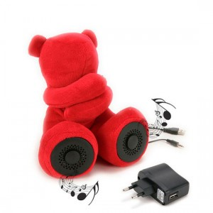 Teddy Bear Speakers Red