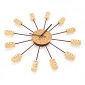 Reloj de Pared de tapones de Corcho