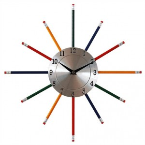 Crayons Wall Clock