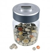Digital Counting Money Jar Euros