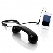 Headset &quot;Retro Phone&quot; (Black)