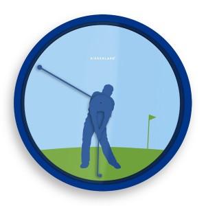 Reloj de pared Golfista