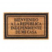 """Felpudo Ikea """"Bienvenido a la República Independiente de mi Casa"""""""