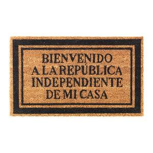 """Doormat """"Bienvenido a la República Independiente de mi Casa"""""""