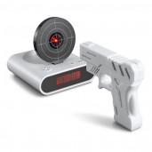 Reloj Despertador Pistola Laser