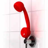 """Off the Hook"" Telephone Shower Head"