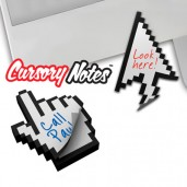 """Cursory Notes"" Pixel Sticky Notepad"
