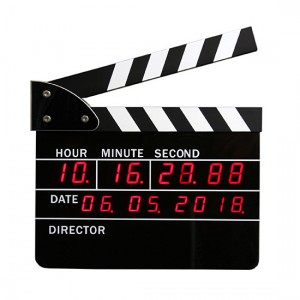 Film Slate Alarm Clock