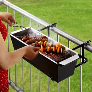 Barbacoa de Balcón con plancha y grill