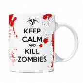 """Keep Calm and Kill Zombies"" Mug"