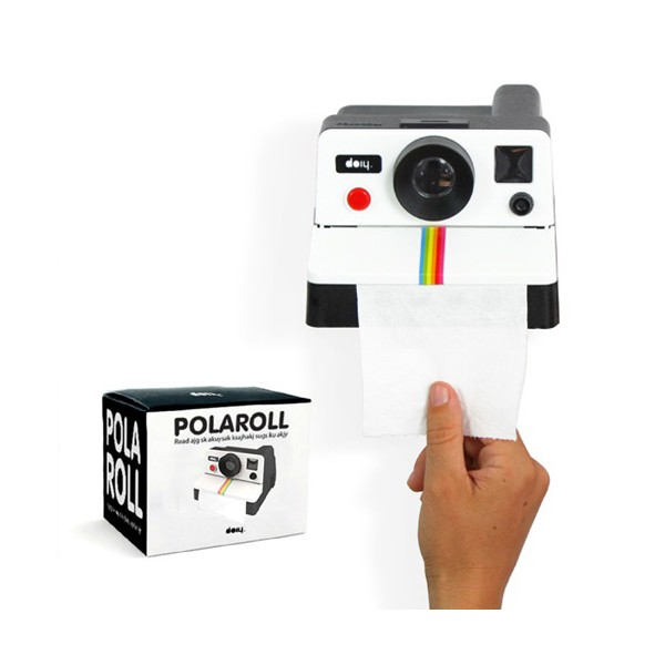 Comprar portarrollos polaroid polaroll para papel de wc for Portarrollos wc
