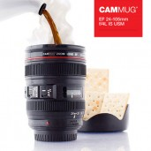 Camera Lens Mug with Lid multi-function