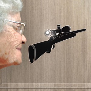 "Pegatina para la Mirilla ""Eye Spy"""