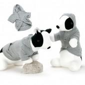 Grey Dog Hoodie