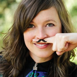 "Fingerstache Temporary Tattoos ""Mustache"""