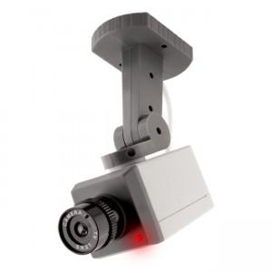 Cámara falsa de vigilancia Giratoria con Led y Sensor