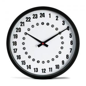 Reloj de pared 24 horas