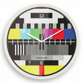 Test Screen TV Wall Clock
