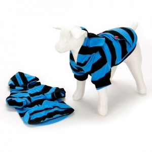 Striped Hoodie Blue/Black Dog
