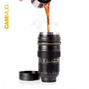 Camera Lens Vacuum Flask Mug