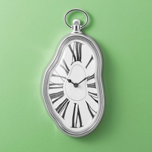Melting time Wall Clock in Dali style