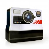 """Photobox"" Retro Camera shaped tin Box"