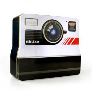 """""""Photobox"""" Retro Camera shaped tin Box"""