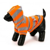Striped Hoodie Orange/Grey Dog