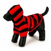 Sudadera Rayas Rojo/Negro Perro