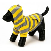 Striped Hoodie Yellow/Grey Dog