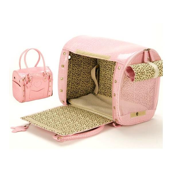Bolsa De Transportar Gatos : Comprar bolso transport?n cuero rosa para mascota