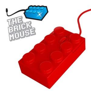 Ratón ladrillo Lego (Rojo)